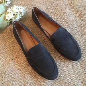 J. Crew Graphic Charcoal Suede Penny Loafer